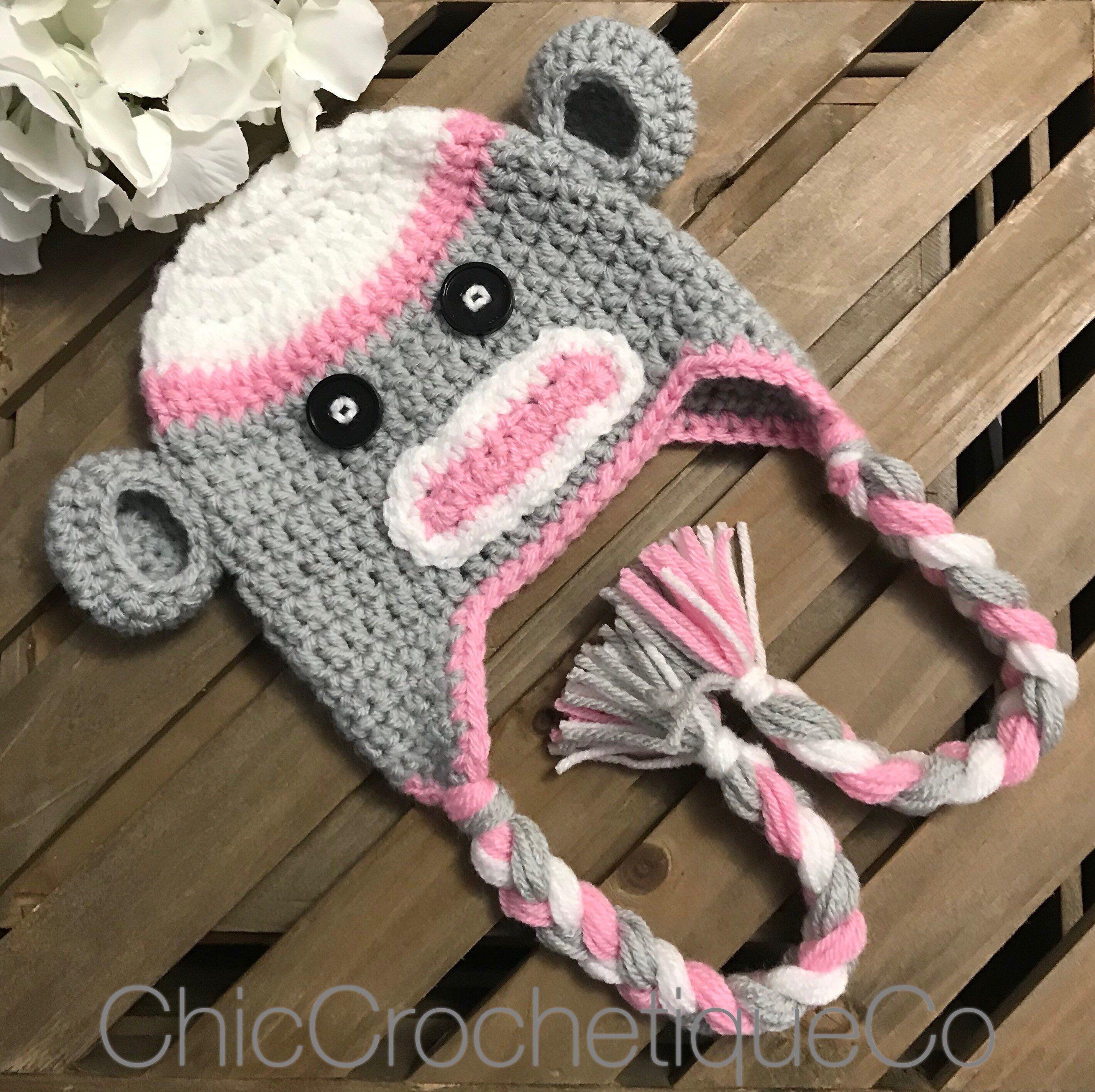 6e3e9347120 Sock Monkey Earflap Hat