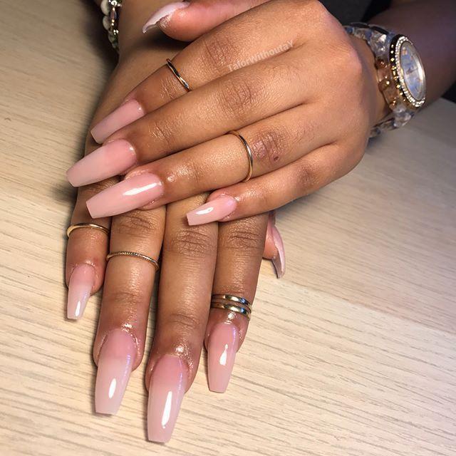 Acrylic with clear top coat, #NotPolish | nails. | Acrylic nails ...