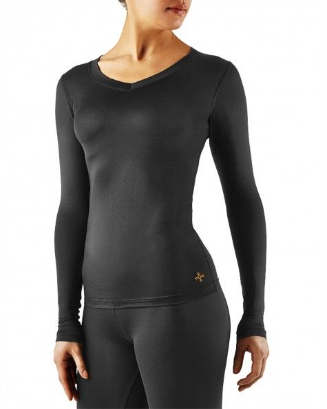 4d90fbb3bc Women's Recovery Compression Long Sleeve V-Neck Shirt (Plus Sizes) | Tommie  Copper