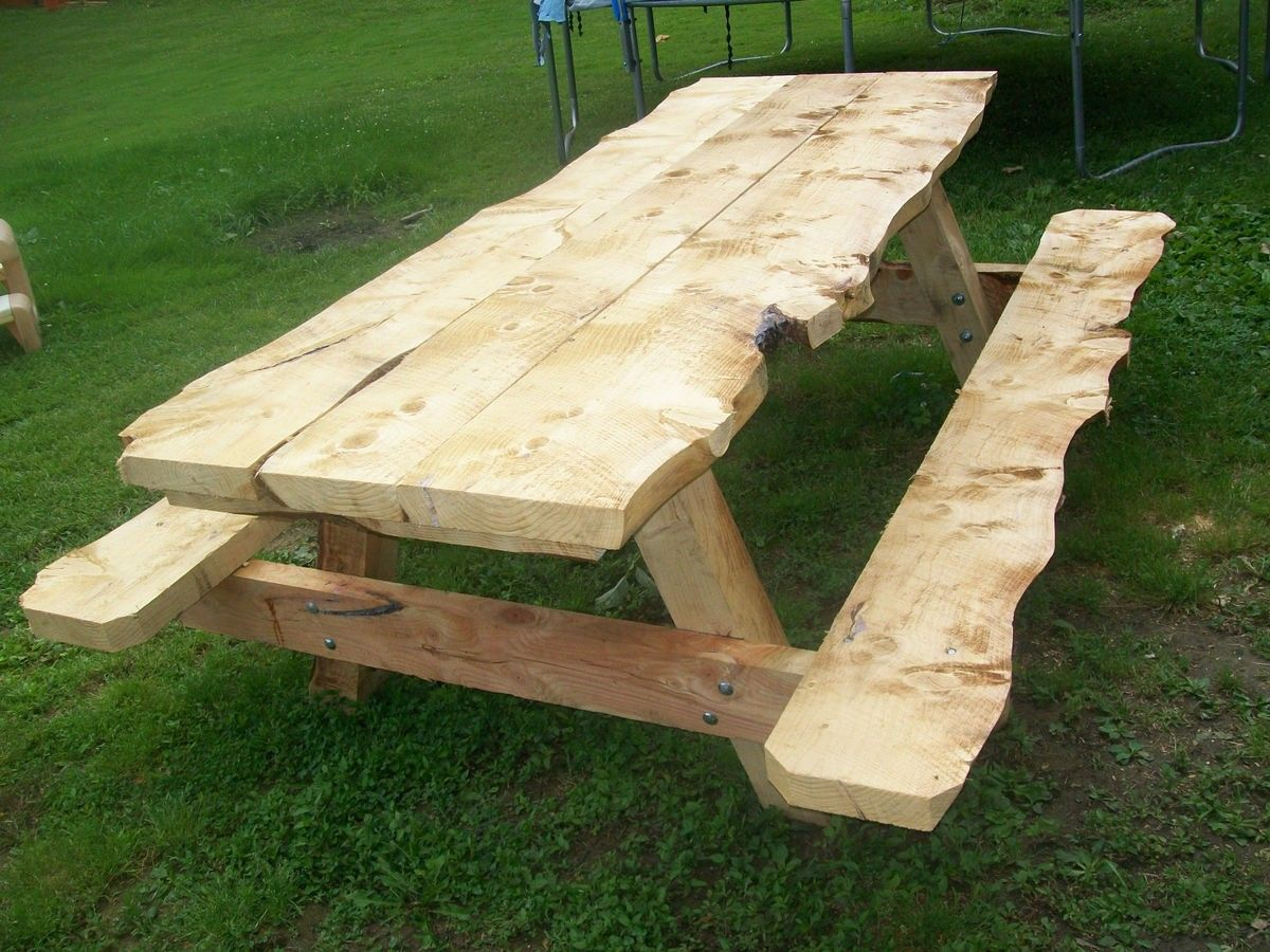 Slab Picnic Table When My Wife See This She Will Want One