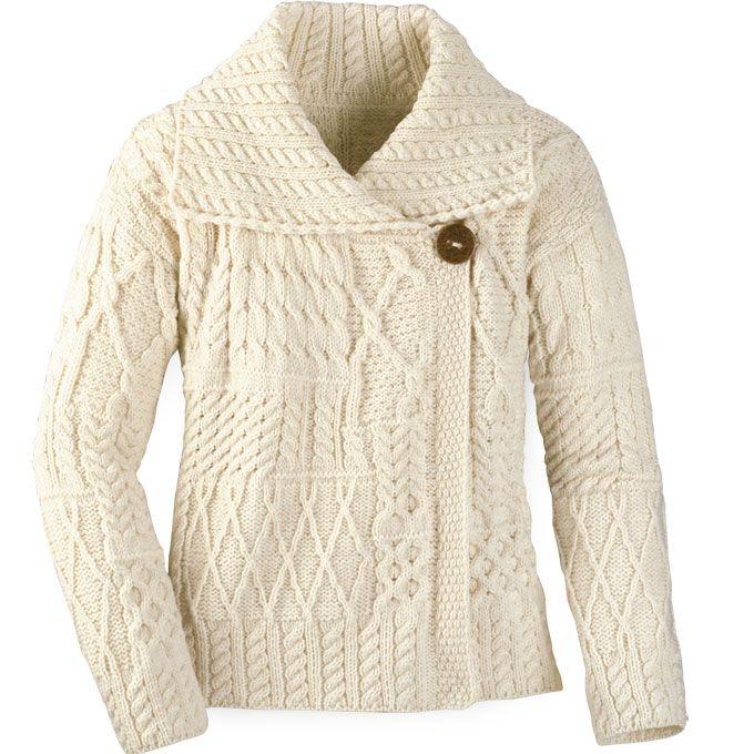 Aran Fashion Jacket Cardigan | sorely | Pinterest | Chalecos mujer ...