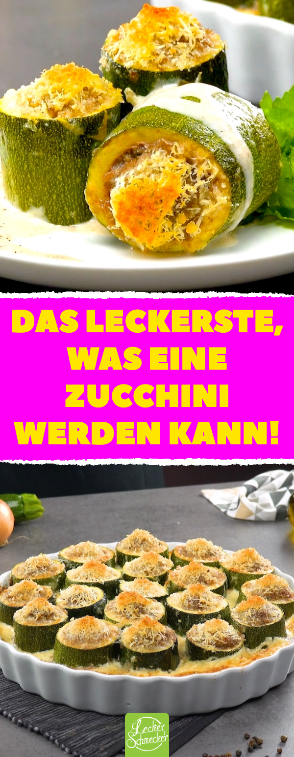Photo of Zucchini filled with mince is presented in a delicious casserole