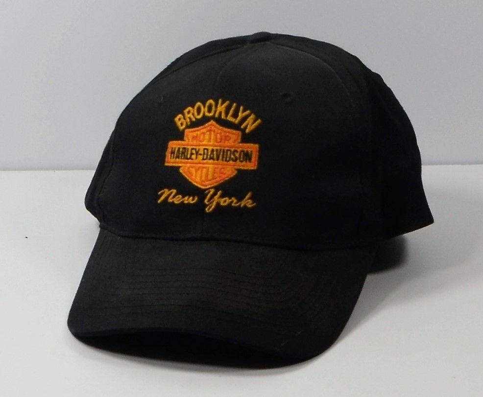ddaa804e27d Harley Davidson Motorcycle Black Hat Brooklyn New York Snapback Cap   HarleyDavidson  Cap