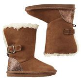 Perfect for winter, these soft and fuzzy sherpa boots look great with leggings and keep her feet incredibly warm.