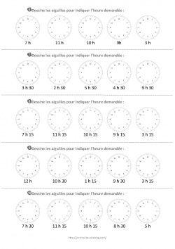 Lire l'heure: affiche et exercices | Apprendre l heure, Apprendre à lire l'heure et Lire l heure ce1