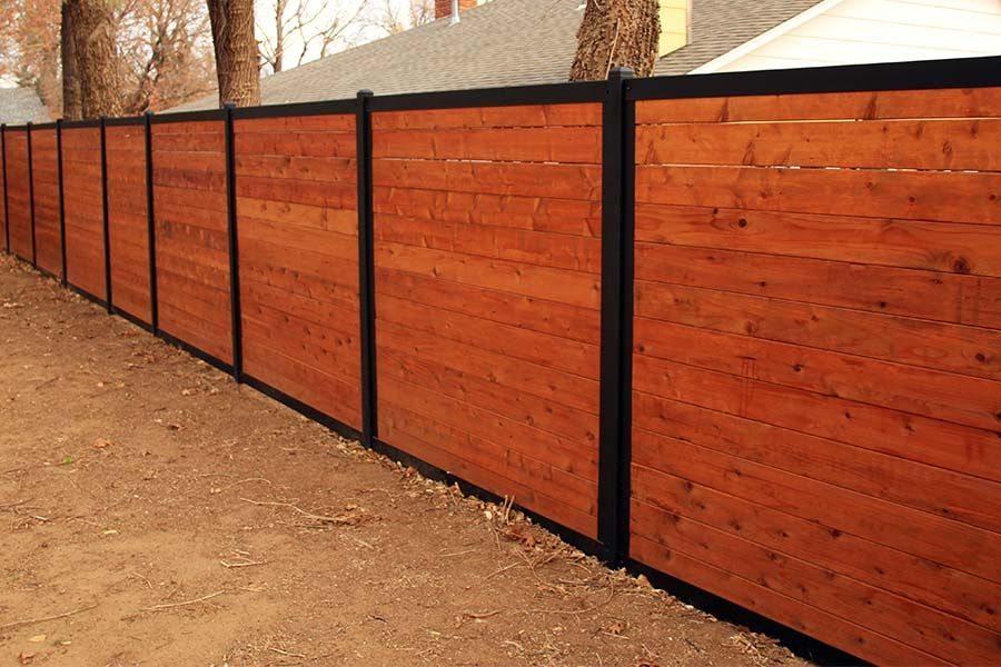 Build a wood fence with metal posts wood fence design