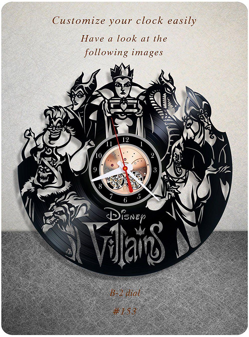 Amazon disney villains vinyl clock vinyl wall clock vinyl amazon disney villains vinyl clock vinyl wall clock vinyl record clock amipublicfo Image collections