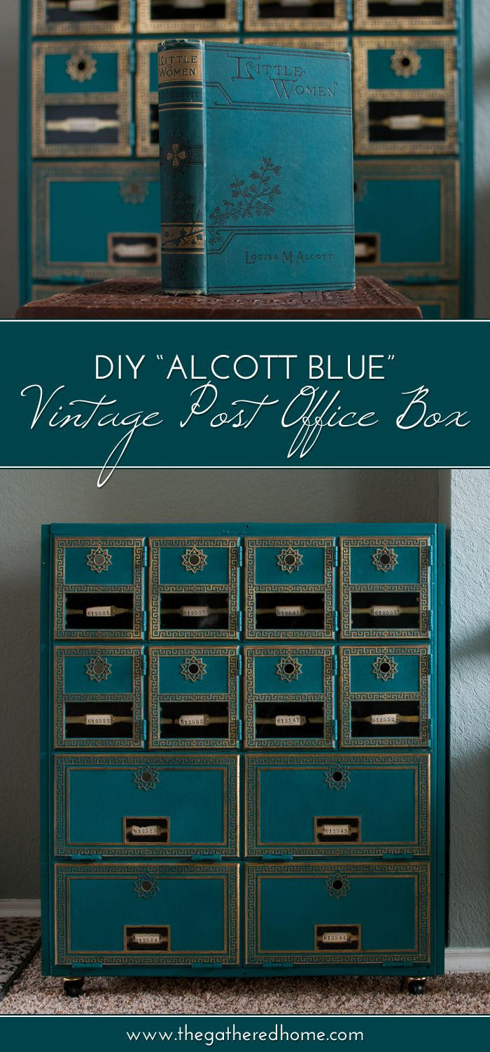 diy vintage post office box makeover bloggers best diy ideas