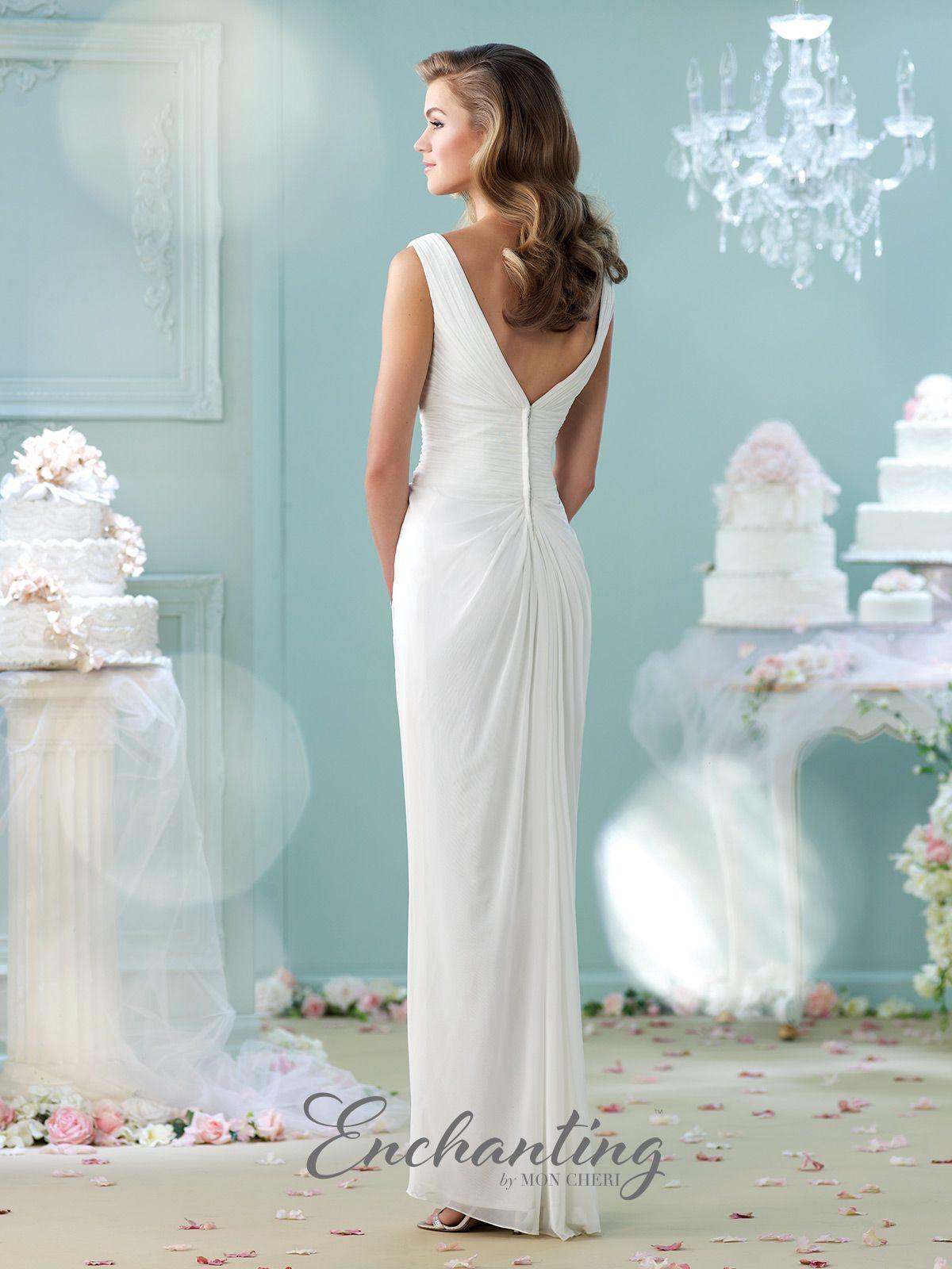 Modern Wedding Dresses 2018 by Mon Cheri | Bateau neckline, Wedding ...