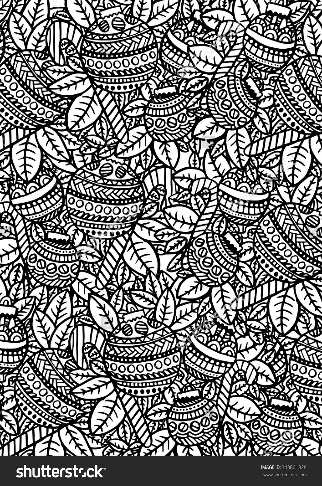 Christmas Baubles coloring page zentangle pattern ...
