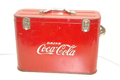 vintage 40's coca-cola airline cooler ice chest collectible coke w/bottle opener | eBay