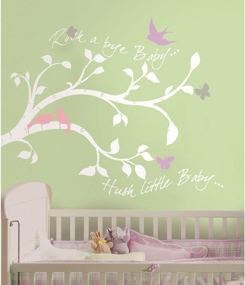 Babyzimmer wandtattoo mädchen  Details zu Wandsticker Babyzimmer Wandtattoo Wandbild Rock-a-Bye ...