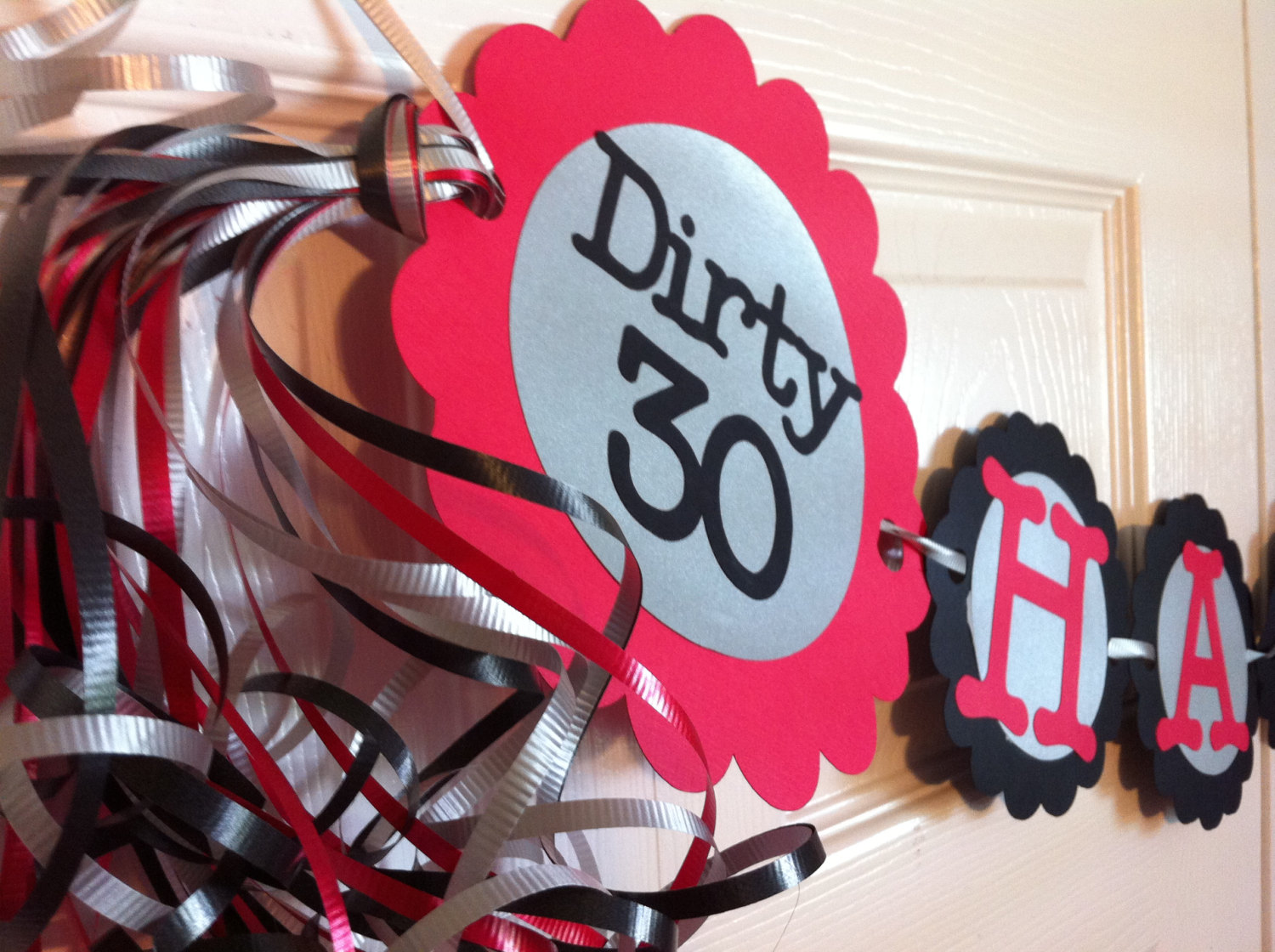 30th Birthday Decorations Dirty Thirty Personalization Available