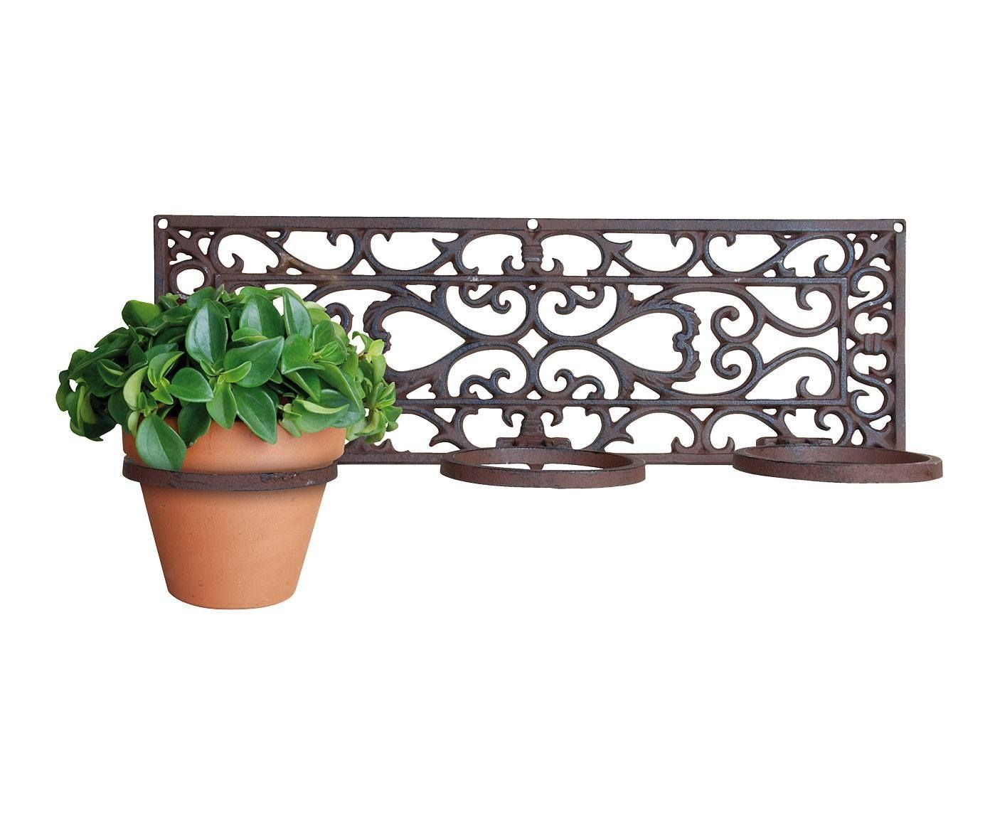 Wrought Iron Wall Mounted Flower Pot Holder Plant Decor Wall