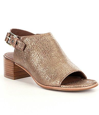 Donald J Pliner Mazie Metallic LizardPrint Sandals #Dillards