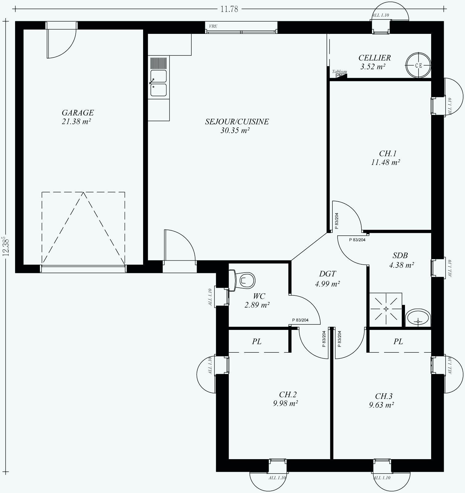 Maison Plan plan-maison-100m2-a-2-etage Plan Maison A Etage 100m2 en 2020 | Plan maison, Maison ...