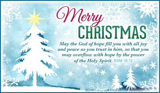 Inspirational Christmas Bible Quote of the Day: Romans 15:13 ...