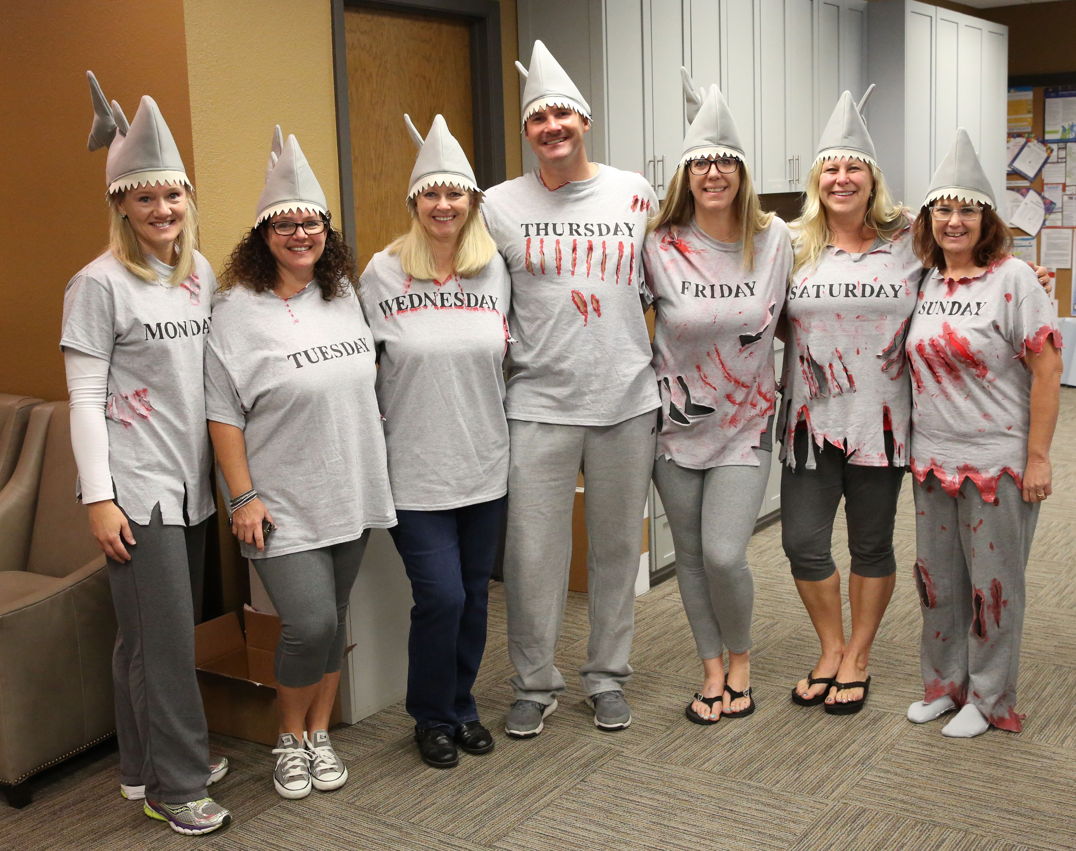 SHARK WEEK - Group Costume  sc 1 st  Pinterest & SHARK WEEK - Group Costume | Thrift Town Halloween Costume ...