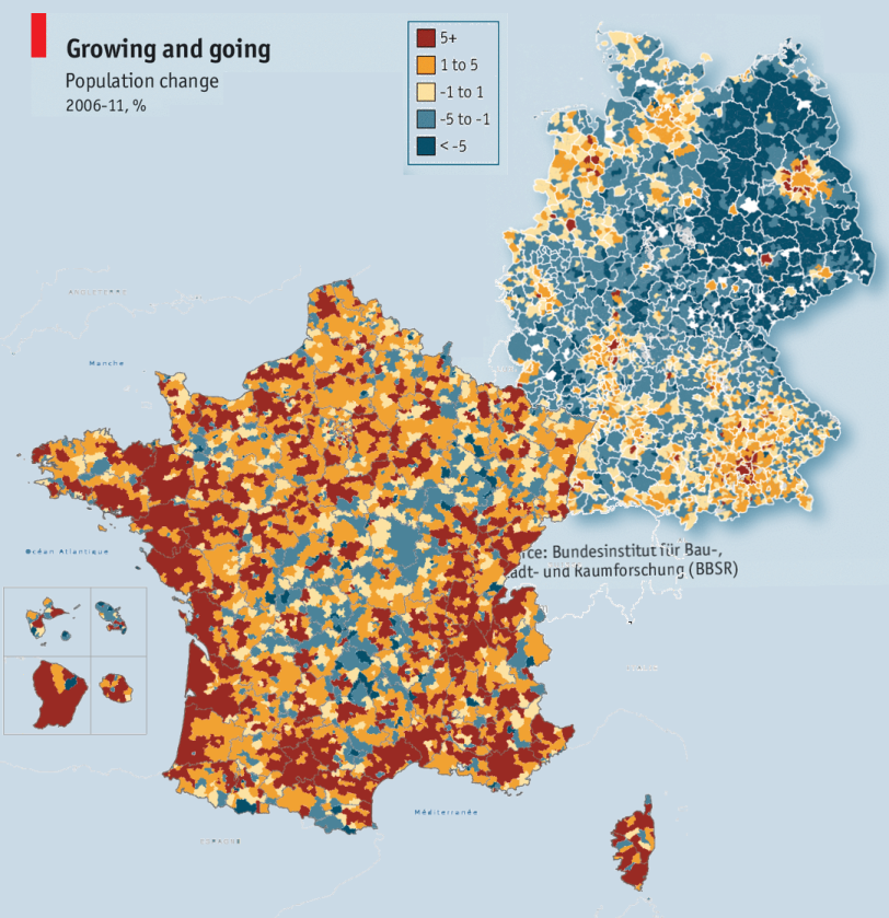 France And Germany Growing And Going Historia Pinterest - France germany map