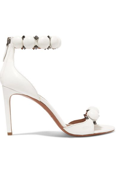 a9930e122f79 Alaïa - Bombe 90 Studded Leather Sandals - White