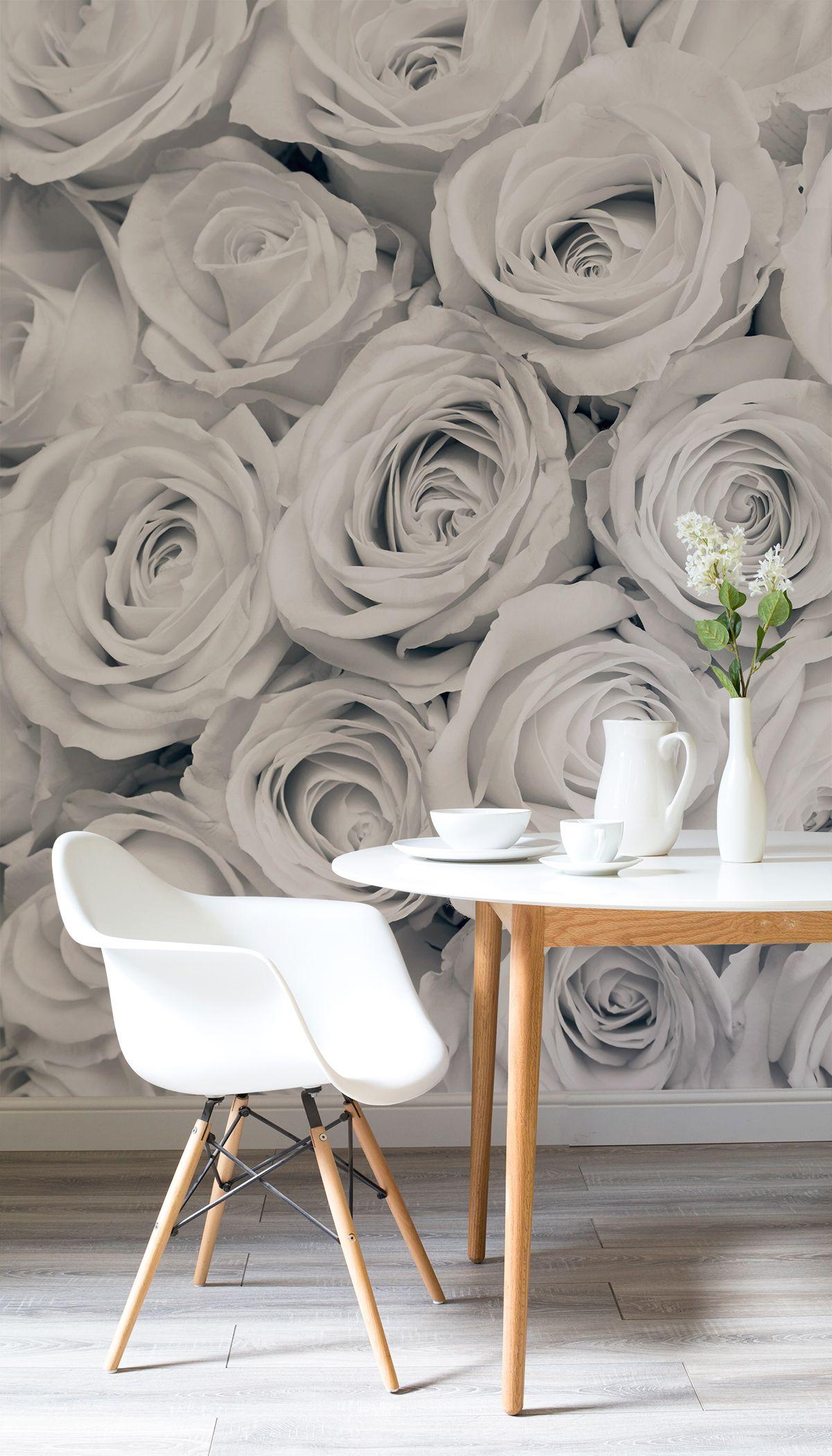 Rose Mist Wallpaper Mural in Millbrooks Home is my Castle