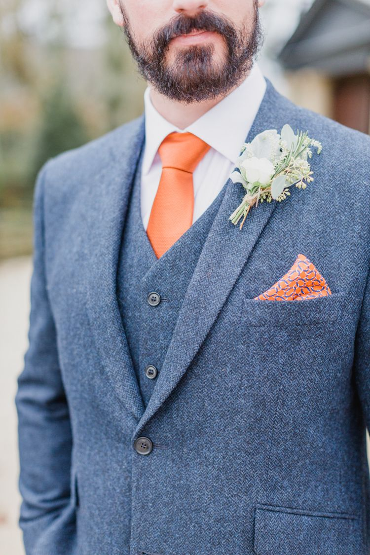 Whimsical Meets Elegant & Classic Wedding | Orange tie, Groom style ...