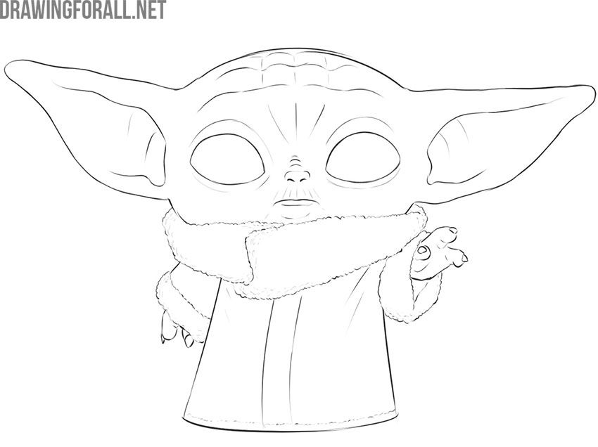 How To Draw Baby Yoda The Child In 2020 Star Wars Art Drawings
