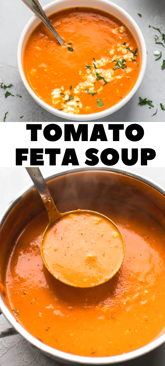 EASY TOMATO FETA SOUP