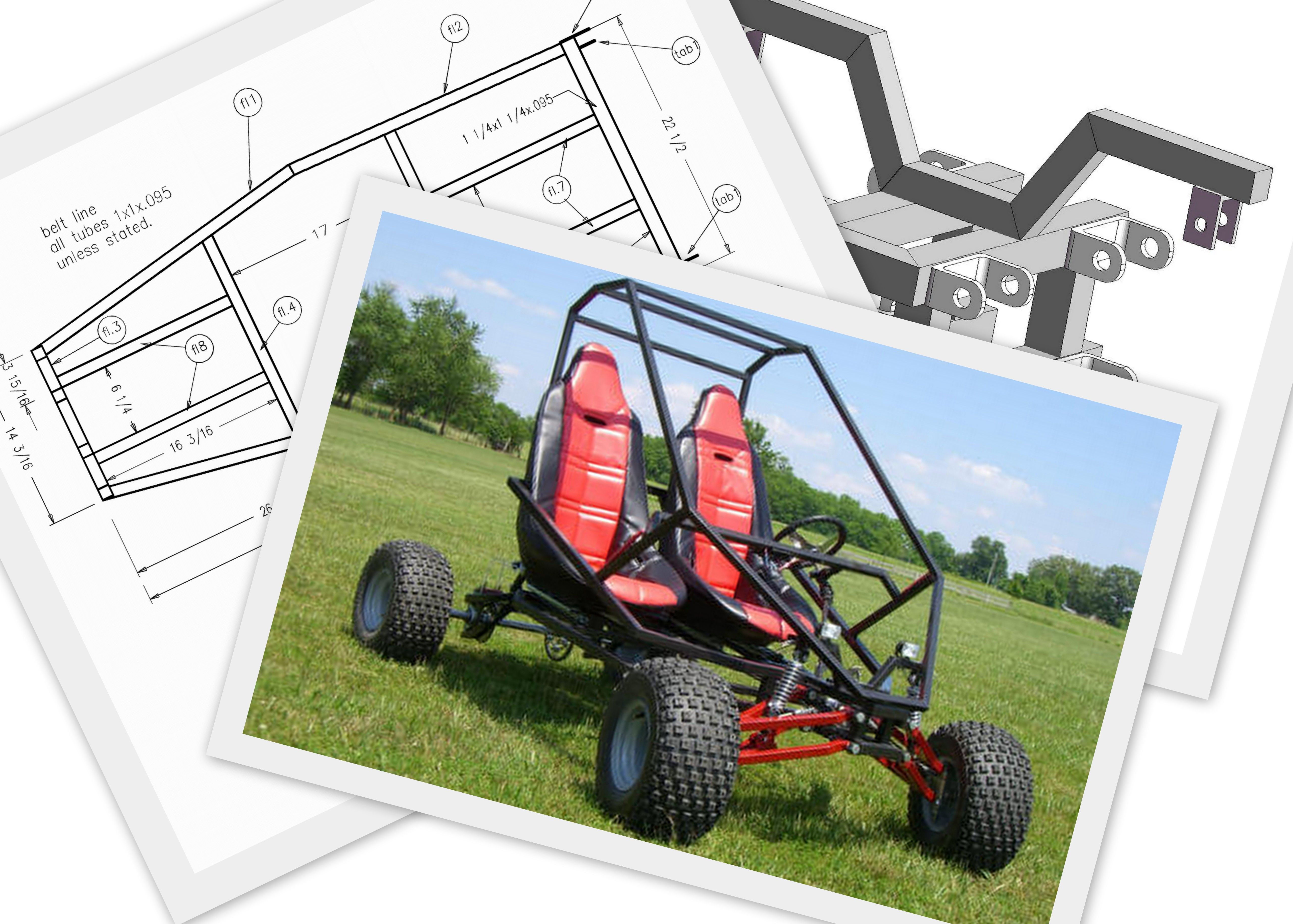 Go Kart Plans and Blueprints | SpiderCarts | Go Cart Stuff | Pinterest
