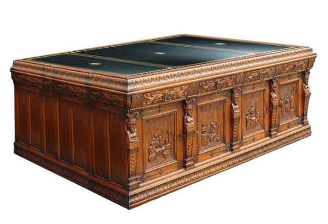 antique executive desk | Roll over Large image to magnify, click Large  image to zoom - Antique Executive Desk Roll Over Large Image To Magnify, Click
