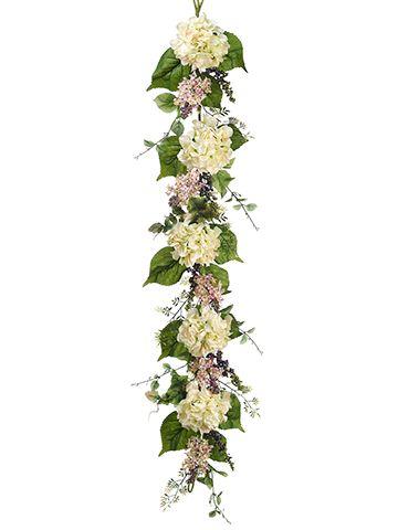 Hydrangea Lilac Silk Flower Garland Wedding Centerpiece Silk Flowers Wedding Flower Garland Wedding Pastel Wedding Flowers
