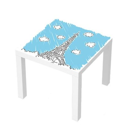 Sticker Table Basse Lack 55x55 Tour Eiffel Avec Images