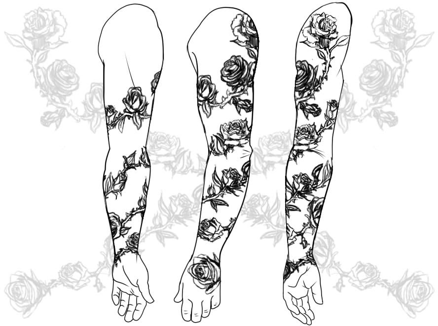 Blakes tattoo- Right Arm -- Rose Vine by yellowflowerevy | Tatoos ...