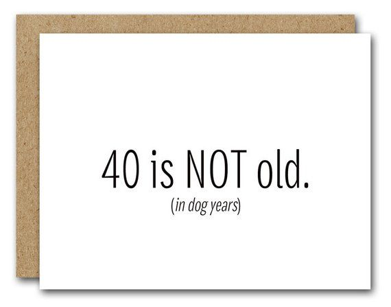 Printable 40th Birthday Card INSTANT DOWNLOAD Funny Happy
