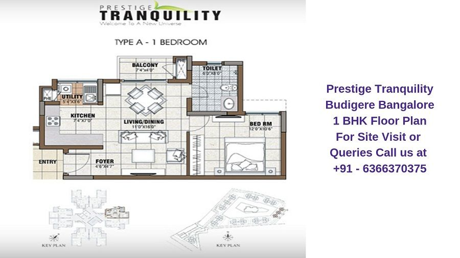 Sales 6366370375 Price Prestige Tranquility Is A Ready To Move In Residential Project Which Offers 1 2 3 Bhk For Sal Floor Plans Tranquility Entry Foyer