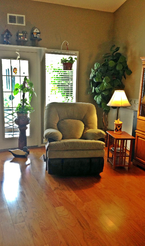 Check out this fy reading corner a Gallery Furniture customer