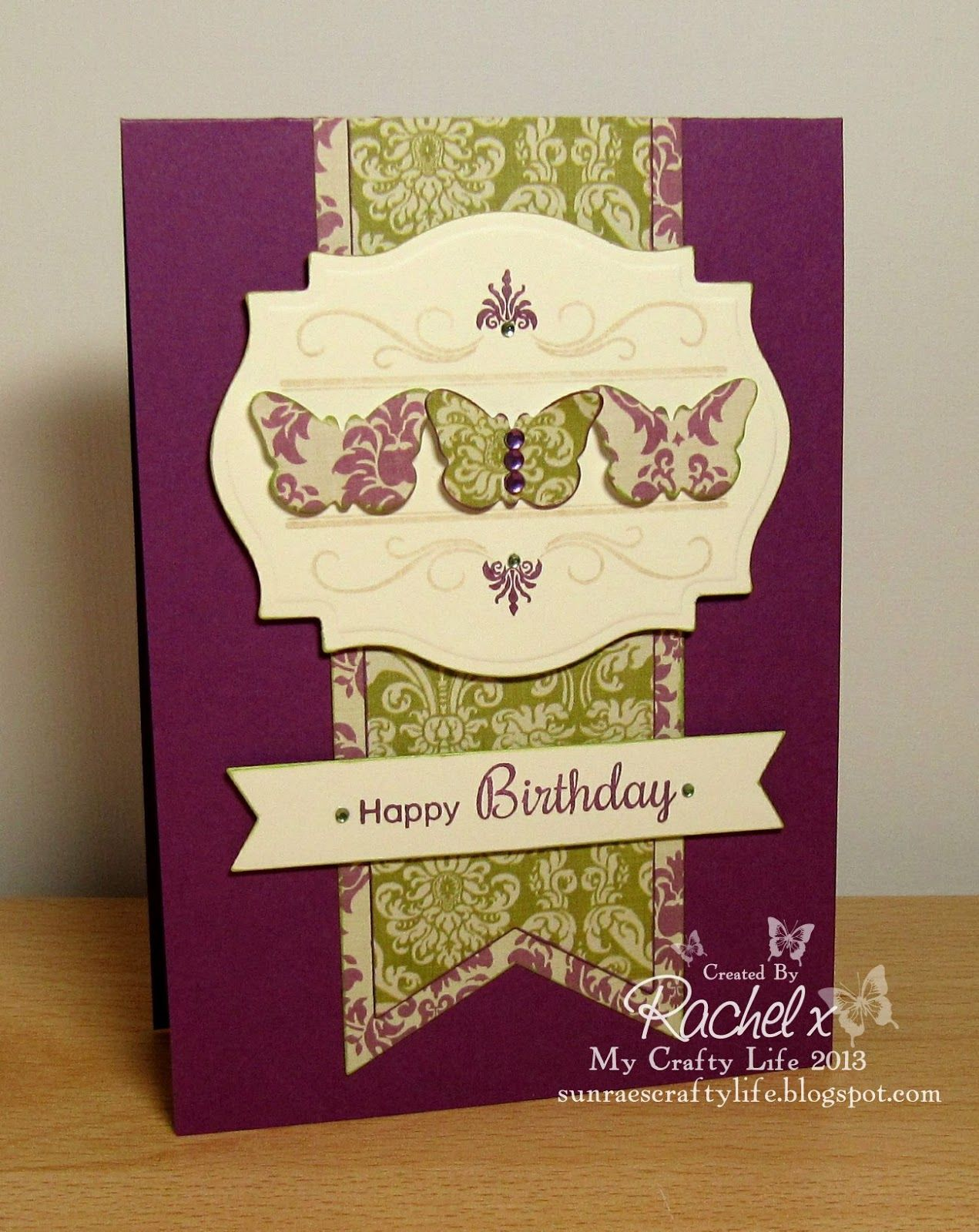 Clearly Besotted Stamps Butterfly Wishes Framed Sentiments