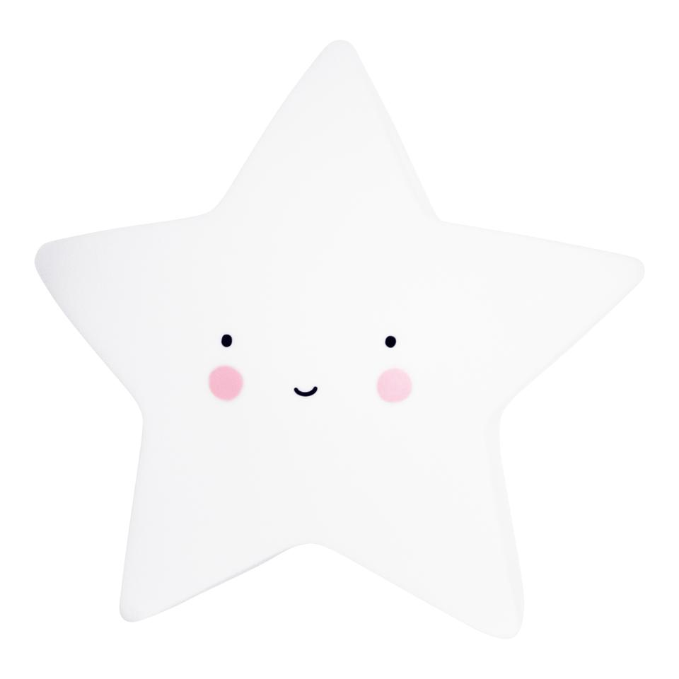 Светильник в виде звезды A Little Lovely Company, маленький, белый