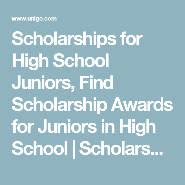 Scholarships For Women Find Scholarship Opportunities Unigo >> Scholarships For High School Juniors Find Scholarship Awards For