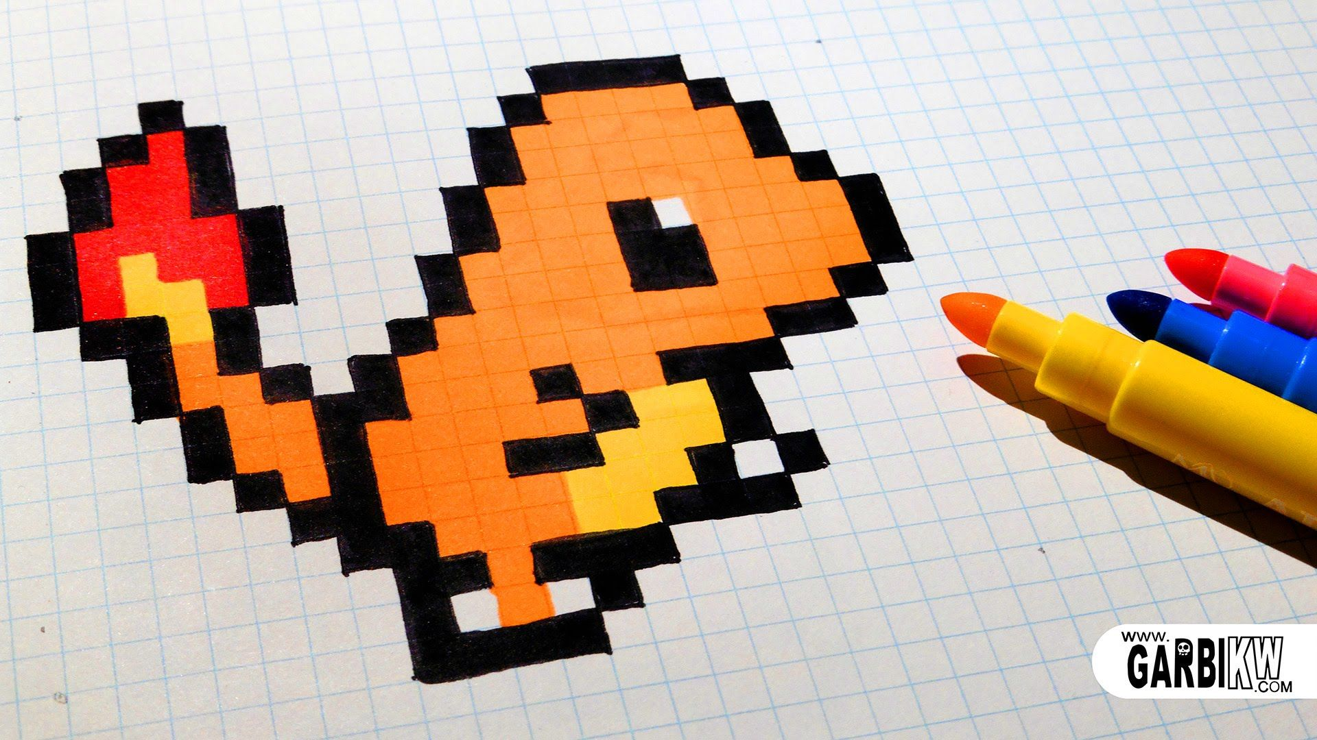 Handmade Pixel Art How To Draw Charmander pixelart
