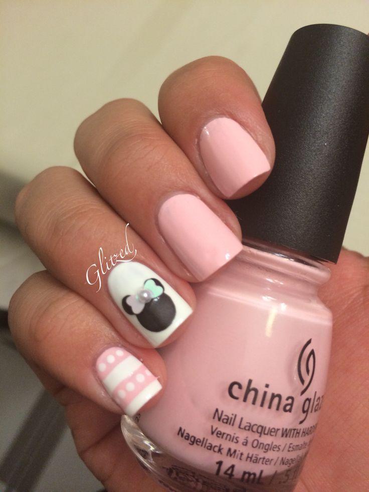 nice Minnie Mouse nails... | uñas | Pinterest | Minnie mouse nails ...