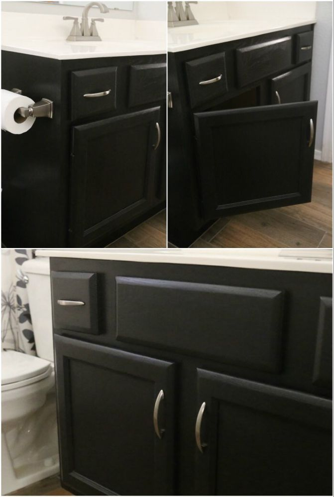 Shop Shop Hgtv Home By Sherwin Williams Black Magic Interior Eggshell Diy Bathroom Vanity