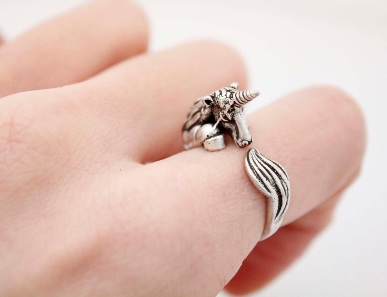 Cute Unicorn ring , animal wrap ring ,R1014S | ACCESSoRiES ...