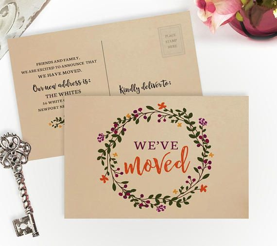 Moving Announcement Cards Printed On Kraft Paper We Ve Moved