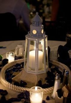 Elegant Nautical Lighthouse Centerpiece