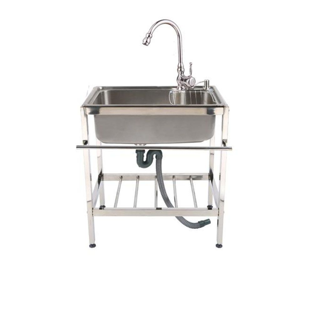 Evier Exterieur Mobile En Acier Inoxydable Style Simple Avec Support Pour Cuisine Jardin Chez Homelavafr Kitchen Sink Large Kitchen Sinks Single Bowl Sink