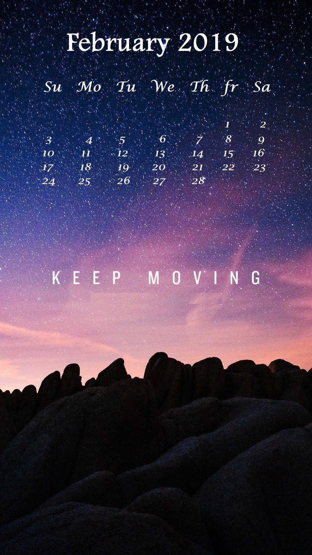 February 2019 iPhone Calendar Wallpaper Calendar