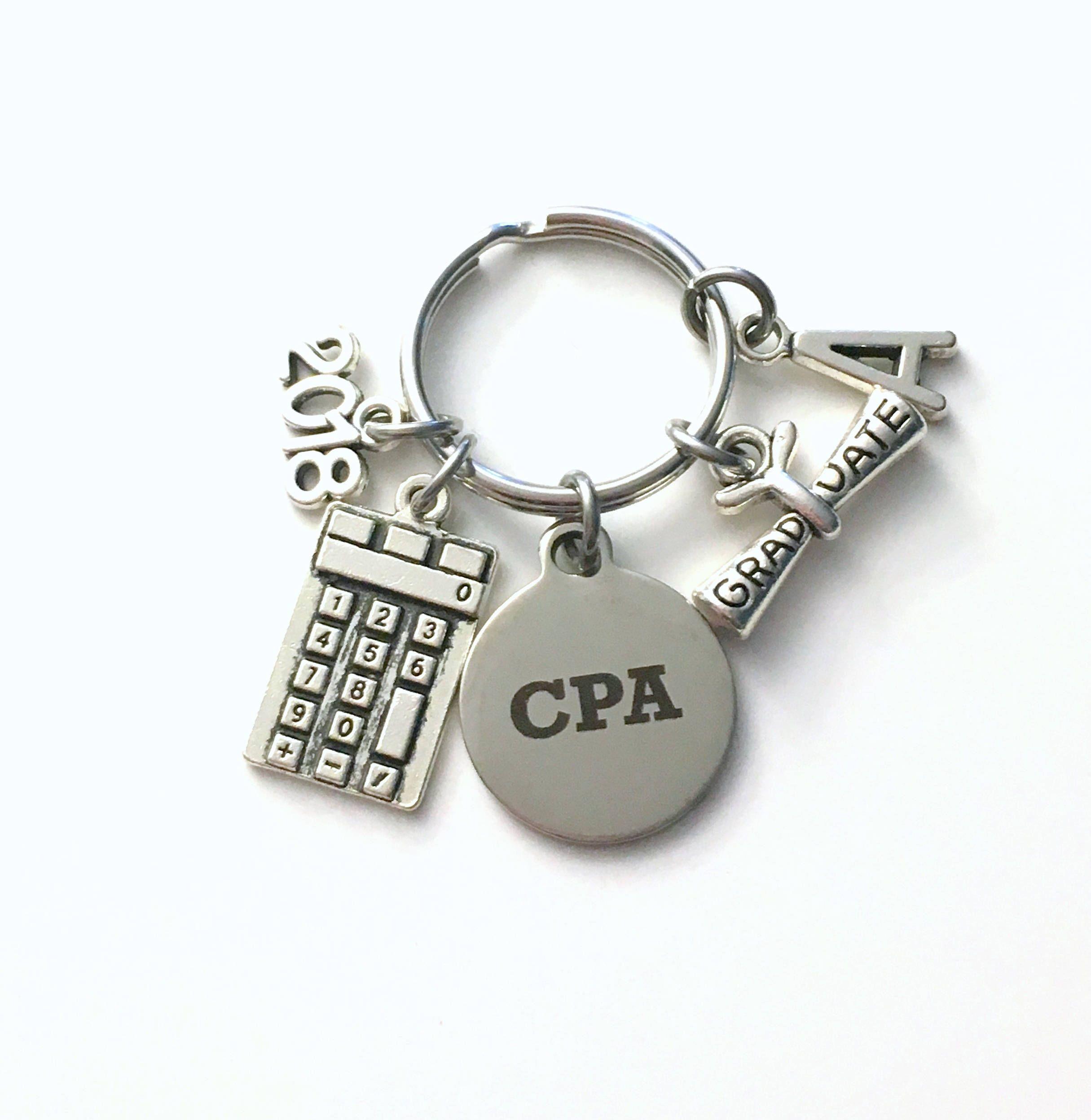 Cpa graduation key chain 2018 2017 chartered professional