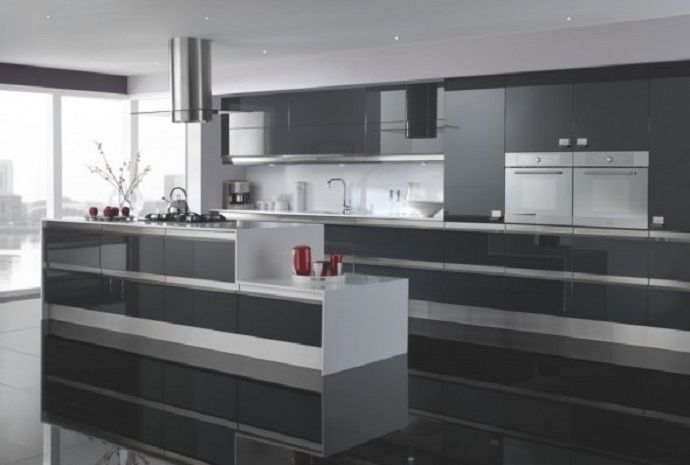 Kitchen Cabinets Doors Glass For Every Kitchen Types Black Floor