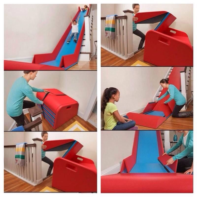 Turn Stairs Into Slide Stair Slide Indoor Slides Playground Slide